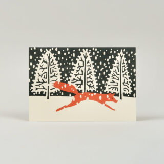 Pack of 10 Fox in Winter Cards