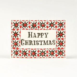 Pack of 10 Red & Green Star Christmas Cards