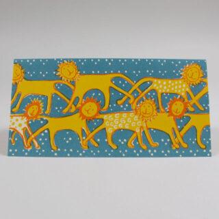 Cambridge Imprint Friendly Lions long card