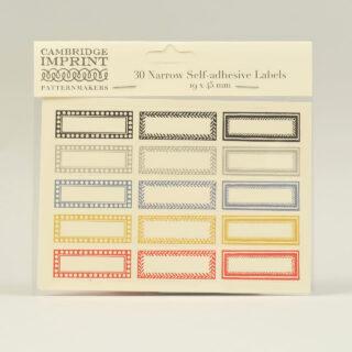 cambridge imprint labels narrow