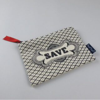Canvas zip purse made in England by Chase & Wonder