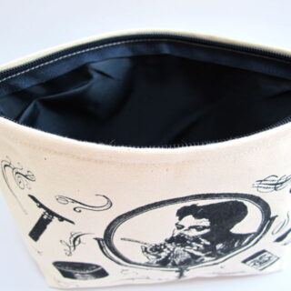 Canvas Zip Wash Bag - Lady in the Mirror