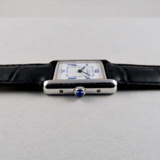 Cartier must de Cartier Tank Ref. 2416 silver lady's wristwatch circa 2000