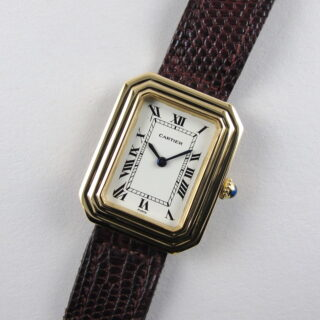 Gold Cartier Paris Cristallor vintage wristwatch, hallmarked 1975
