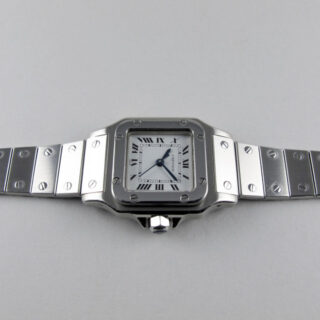 Cartier Santos lady's stainless steel vintage wristwatch, circa 1985