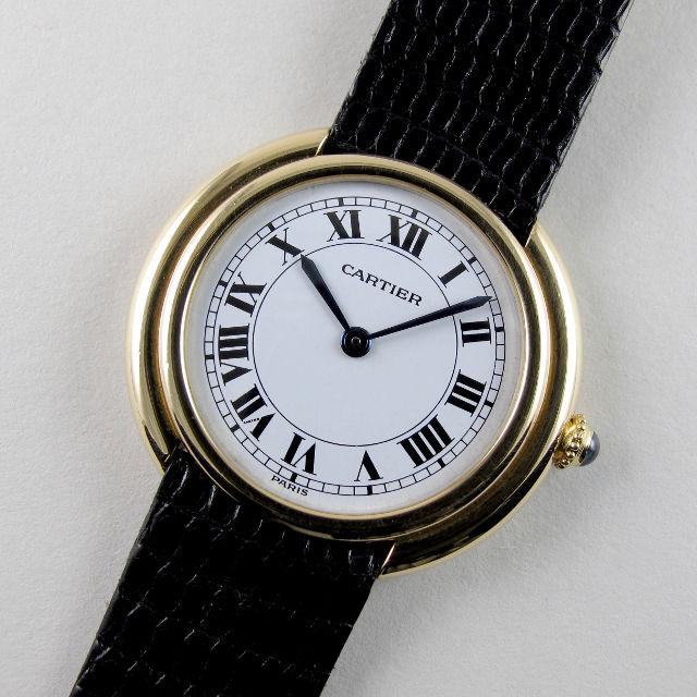 Cartier Vendôme gold vintage wristwatch, circa 1975