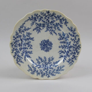 chamberlains worcester seaweed blue white plate 01