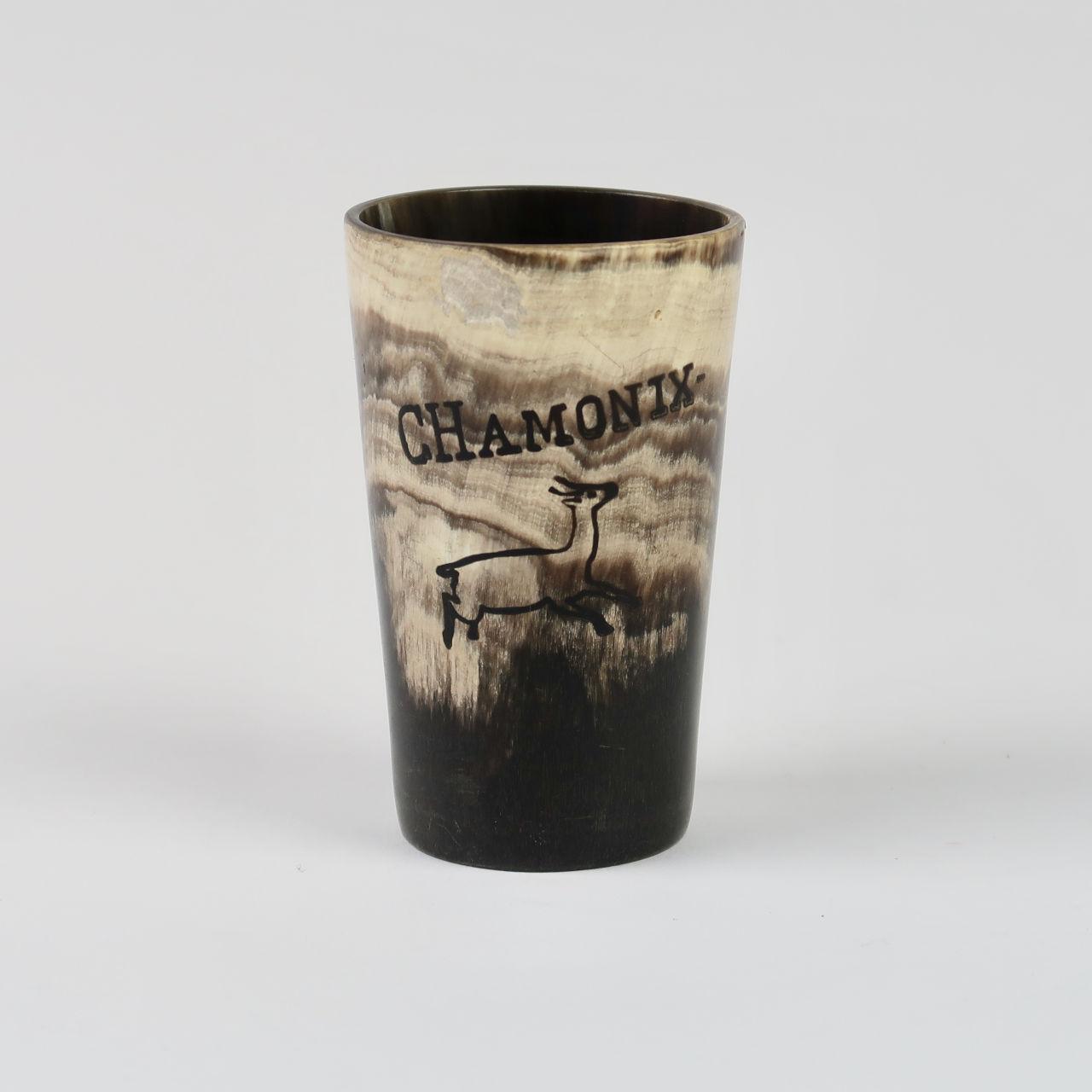 Vintage Chamonix Horn Beaker