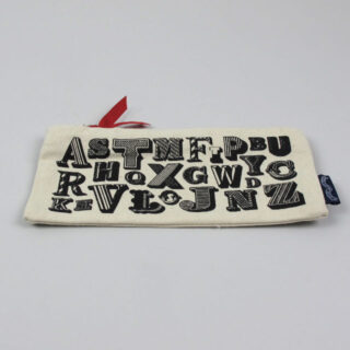 A-Z Screenprinted Pencil Case