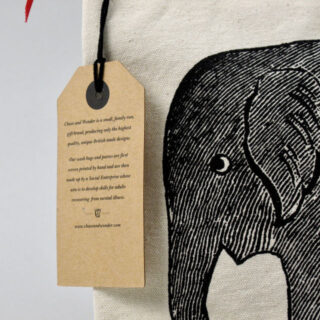 Canvas Zip Wash Bag - Baby Elephant