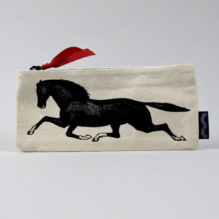 Screen-printed Pencil Case - Horse