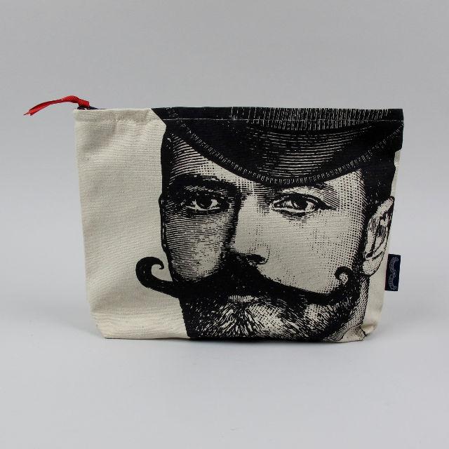 Canvas Zip Wash Bag - Gentleman