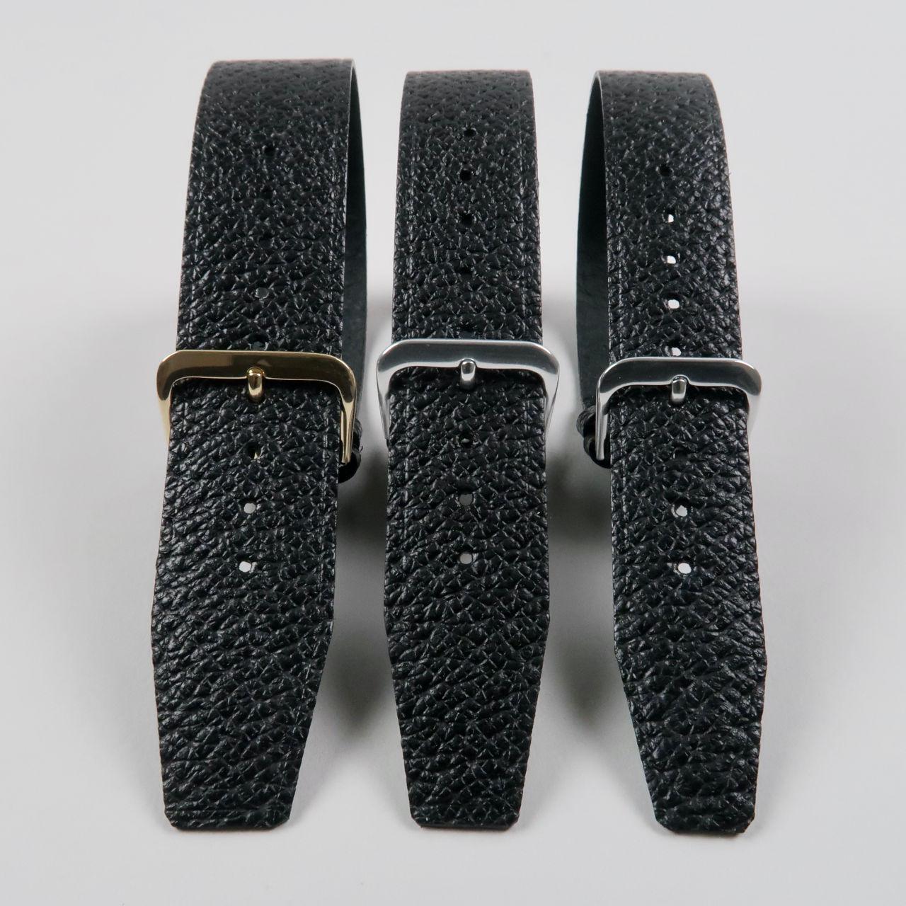 Christopher Clarke for Black Bough handmade wild boar pull-through watch straps