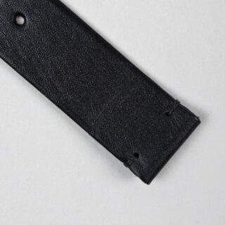 Christopher Clarke for Black Bough handmade charcoal black calf watch strap