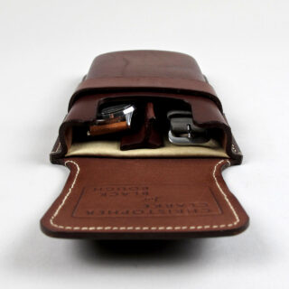 Bespoke handmade leather watch case