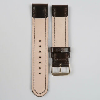 Christopher Clarke for Black Bough handmade shell cordovan stitched watch strap