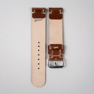 Christopher Clarke for Black Bough handmade shell cordovan leather watch strap