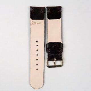 Christopher Clarke for Black Bough handmade chocolate brown stirrup hide watch strap
