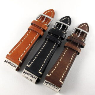Chunky Calf Hirsch Liberty Leather Wristwatch Strap Wshl V03