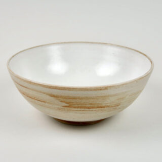 White Glazed Bowl by Cleefold Pottery