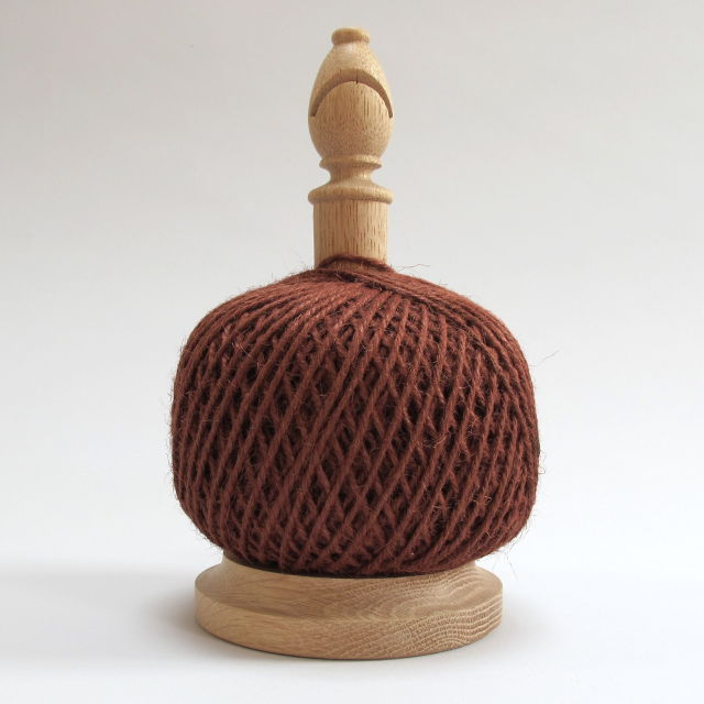 Bishop's Twine Holder, made in Shropshire - Russet Red