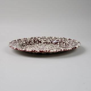 Enamel Splatterware Dinner Plate - Burgundy