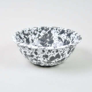 Enamel Splatterware Cereal Bowl - Grey