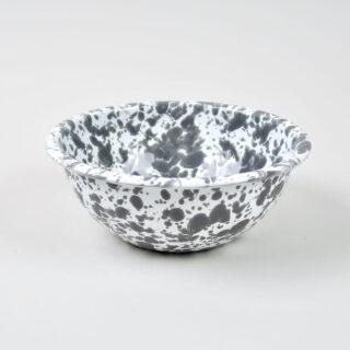Enamel Splatterware Cereal Bowl - Grey