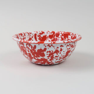 Enamel Splatterware Cereal Bowl - Red