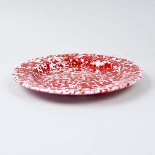 Enamel Splatterware Dinner Plate - Red