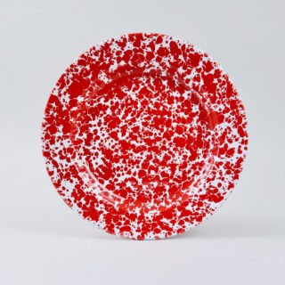 Enamel Splatterware Dinner Plate - Red