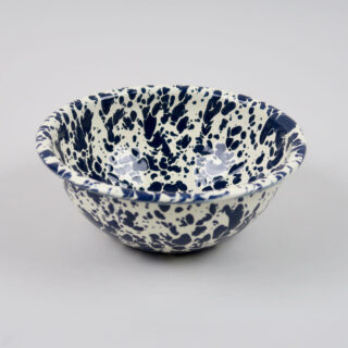 Enamel Splatterware Cereal Bowl - Navy