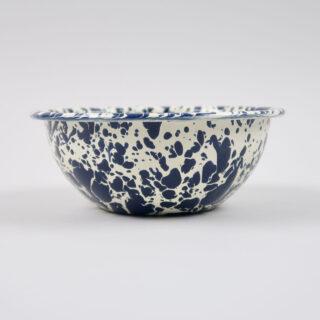 Enamel Splatterware Cereal Bowl - Navy