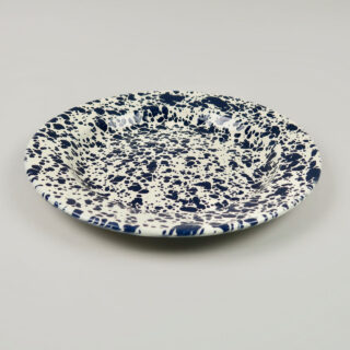 Enamel Splatterware Dinner Plate - Navy