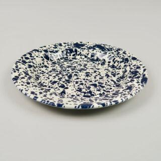 Enamel Splatterware Dinner Plate - Navy