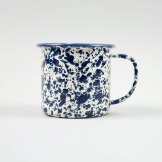 Enamel Splatterware Navy Mug