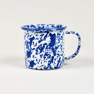 Enamel Splatterware Blue Mug
