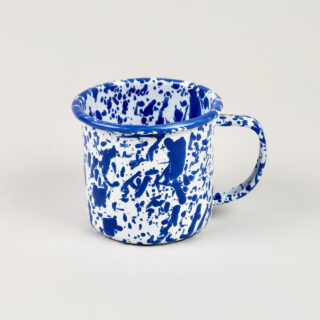 Enamel Splatterware Blue Mug