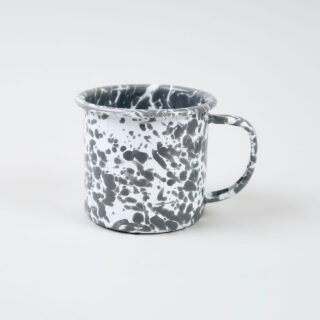 Enamel Splatterware Grey Mug
