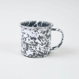 Enamel Splatterware Grey Mug