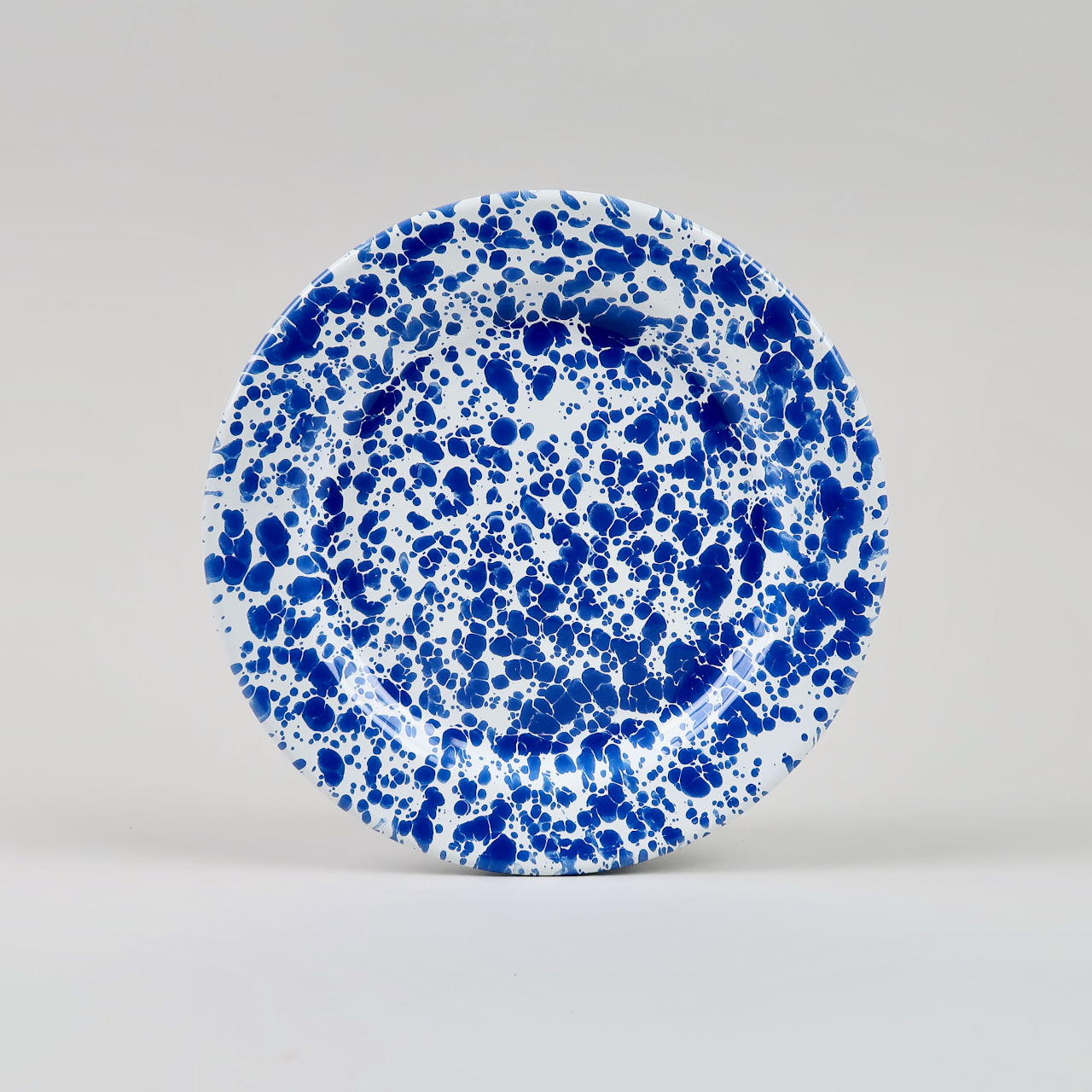 Enamel Splatterware - Salad Plate - Blue
