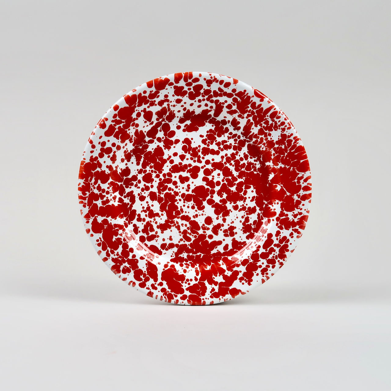 Enamel Splatterware - Salad Plate - Red