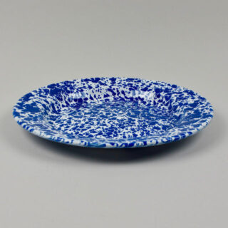 Enamel Splatterware Dinner Plate - Blue