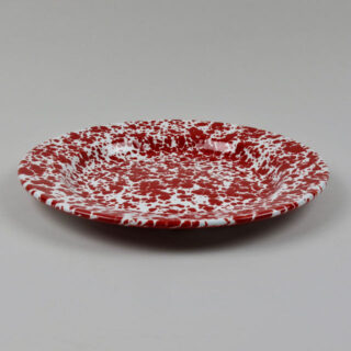 crown canyon splatter dinner plate red 01