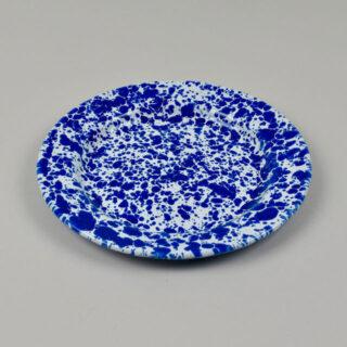 Enamel Splatterware - Salad Plate - Blue