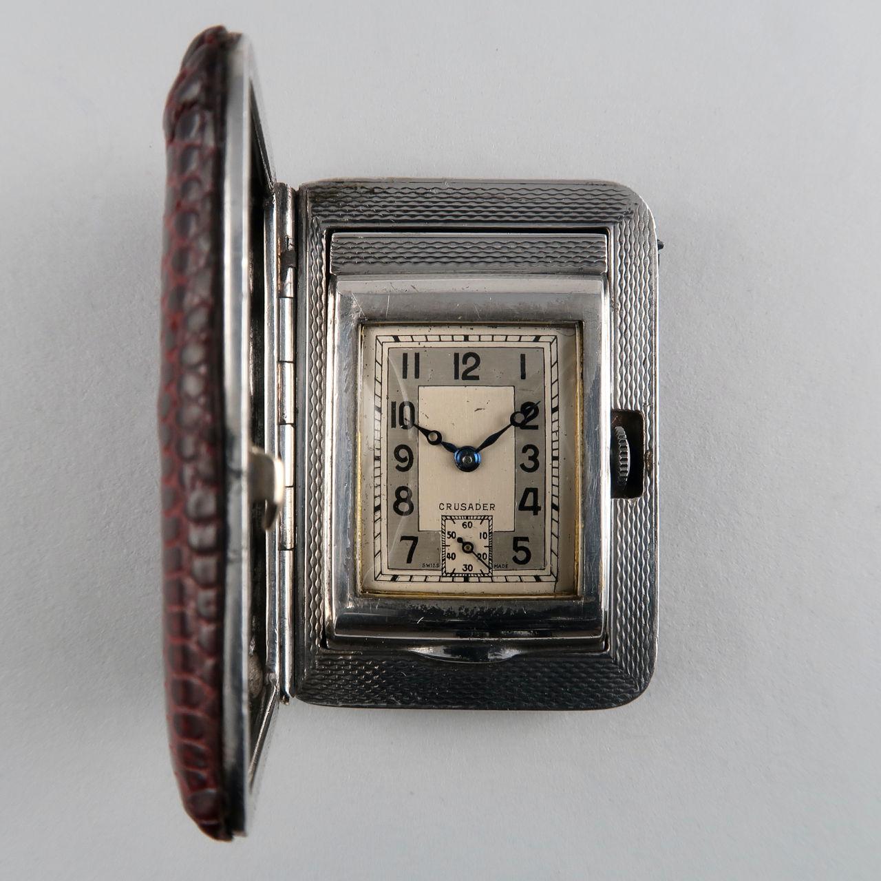 Crusader 1935 silver purse watch