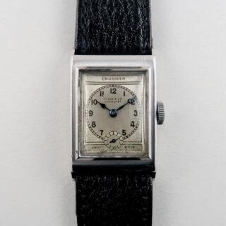 Crusader retailed by Flinn & Co. Coventry steel vintage wristwatch circa 1935