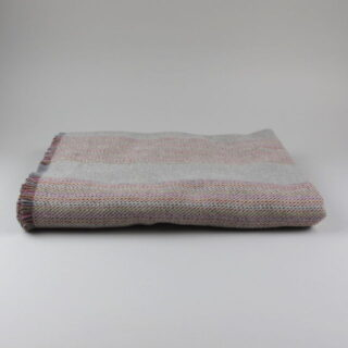 Lambswool blanket/throw, made in Ireland - Snow