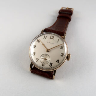 Cyma cal. 162 hallmarked 1947 | 9ct gold manual vintage wristwatch