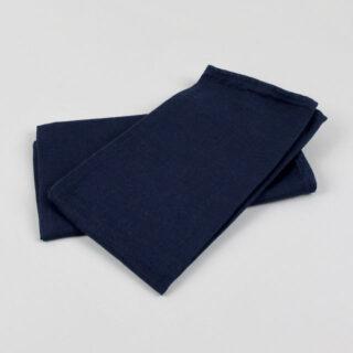 Dark Navy 100% Linen Napkin - handmade in Ludlow